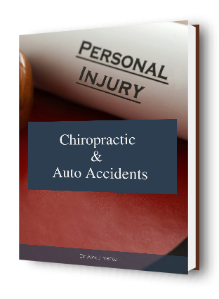 blog picture of law book with words personal injury chiropractic & auto accidents