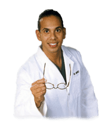 blog picture of dr alex jimenez raising eye glasses with white lab coat