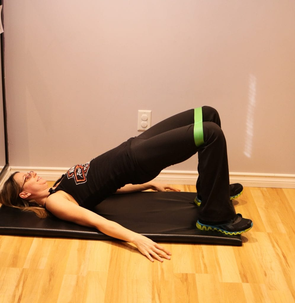glute bridge and fixing back pain
