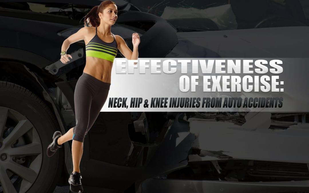 Eficacia del ejercicio: lesiones de cuello, cadera y rodilla por accidentes automovilísticos
