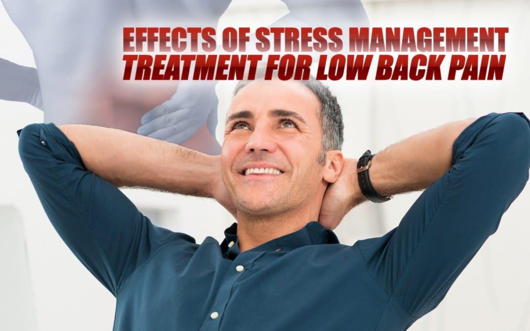 Efectos del tratamiento de manejo del estrés para el dolor lumbar en El Paso, TX